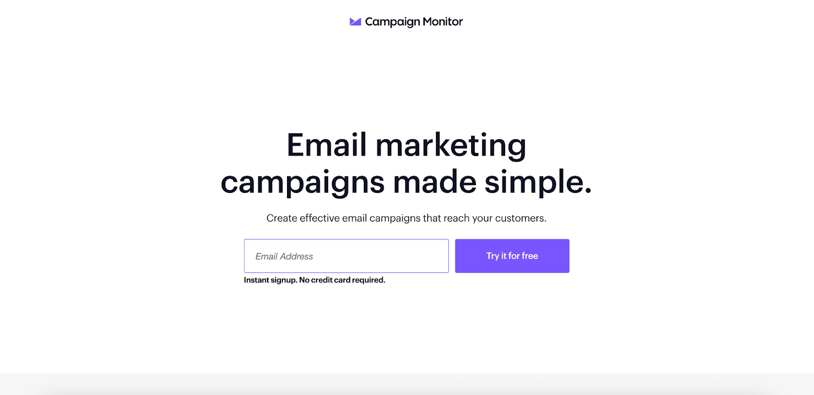 B2B landing pages - campaign monitor