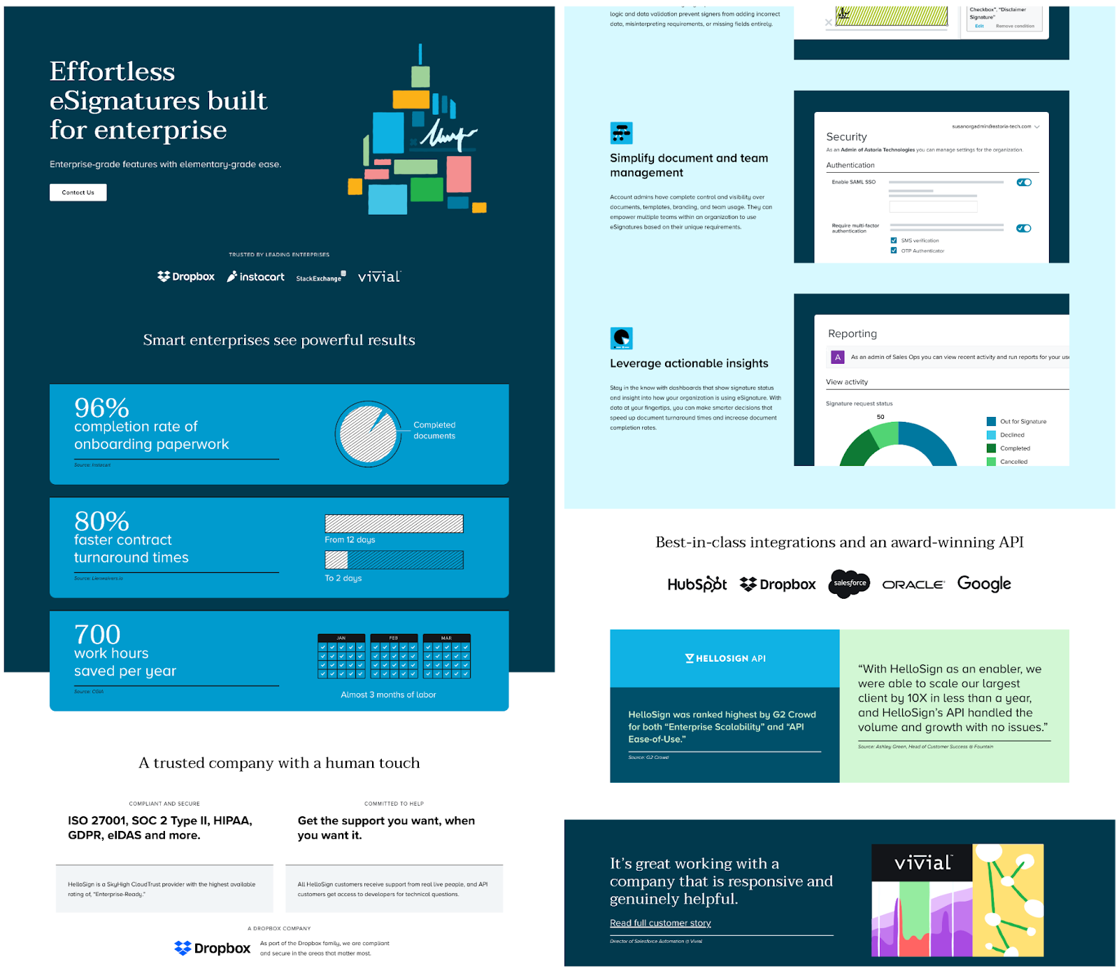 B2B landing pages - hellosign's landing page