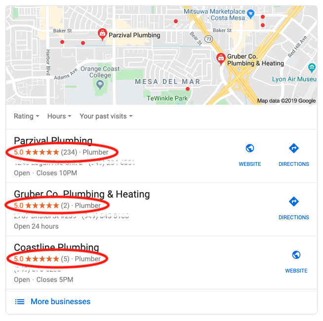 ppc seller rating local ads