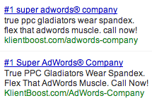 Remember that you're writing ads, not your master thesis for dental school.