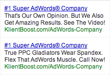 Which ad do you think has a higher CTR?