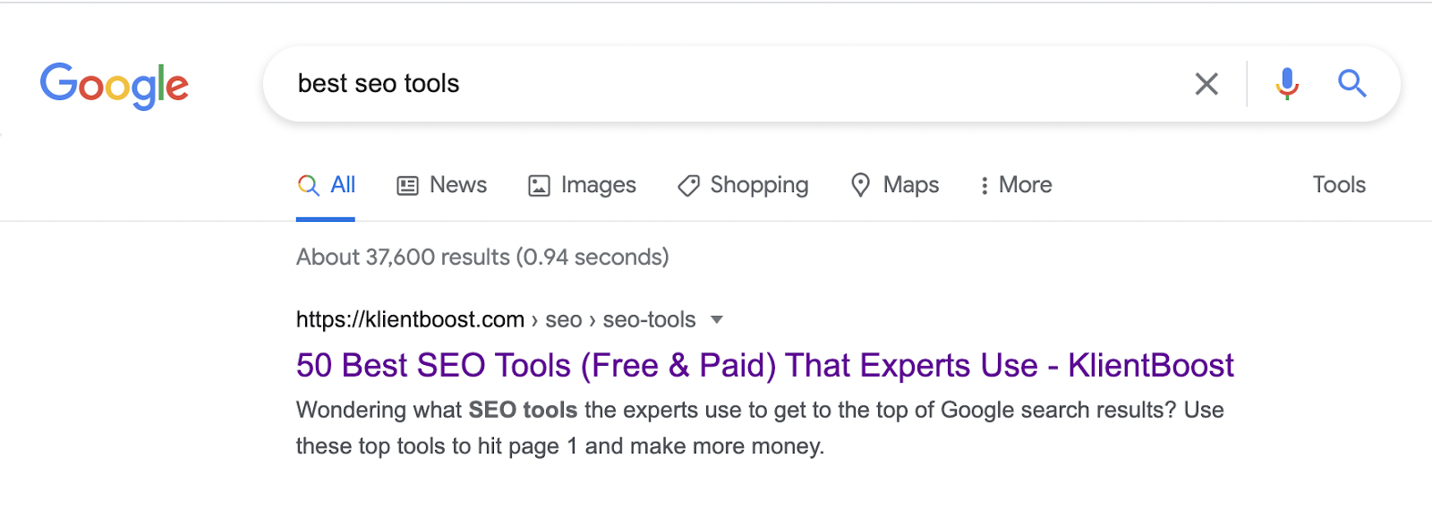 Title and meta description in SERP – source