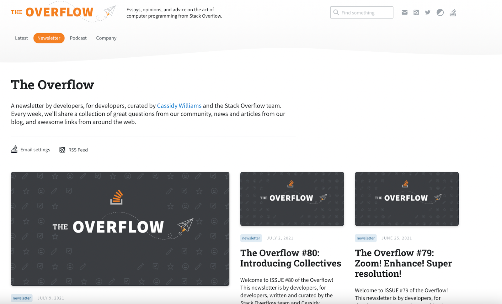 Preview all of Stack Overflow's emails