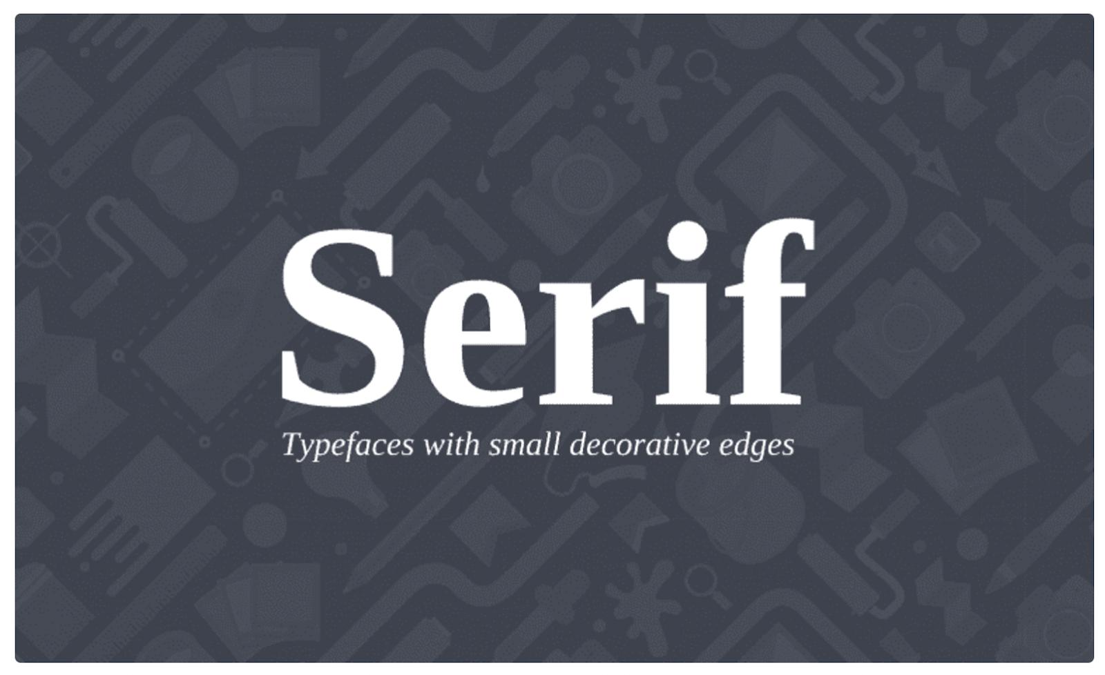 Serif fonts – source