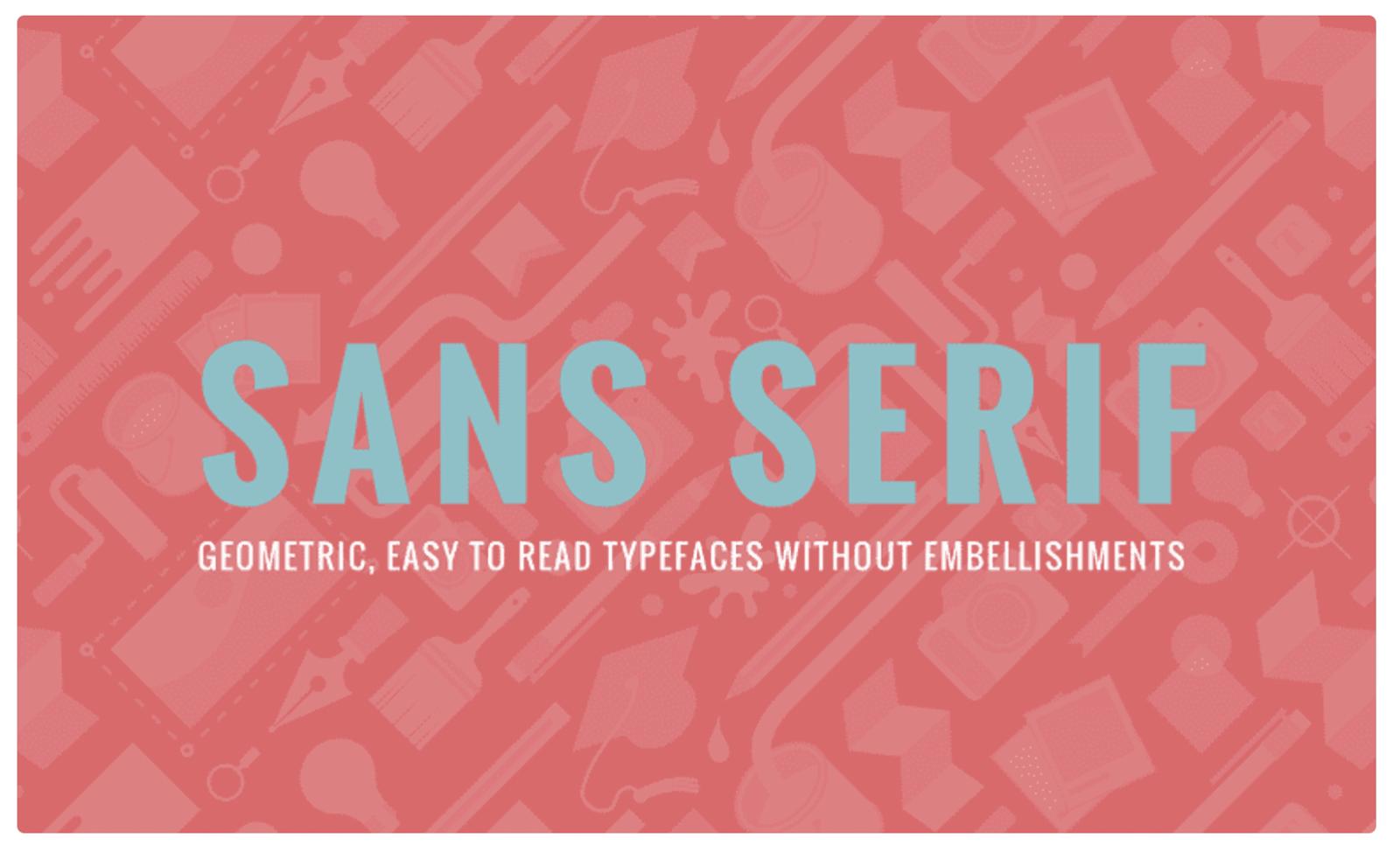Sans serif fonts – source