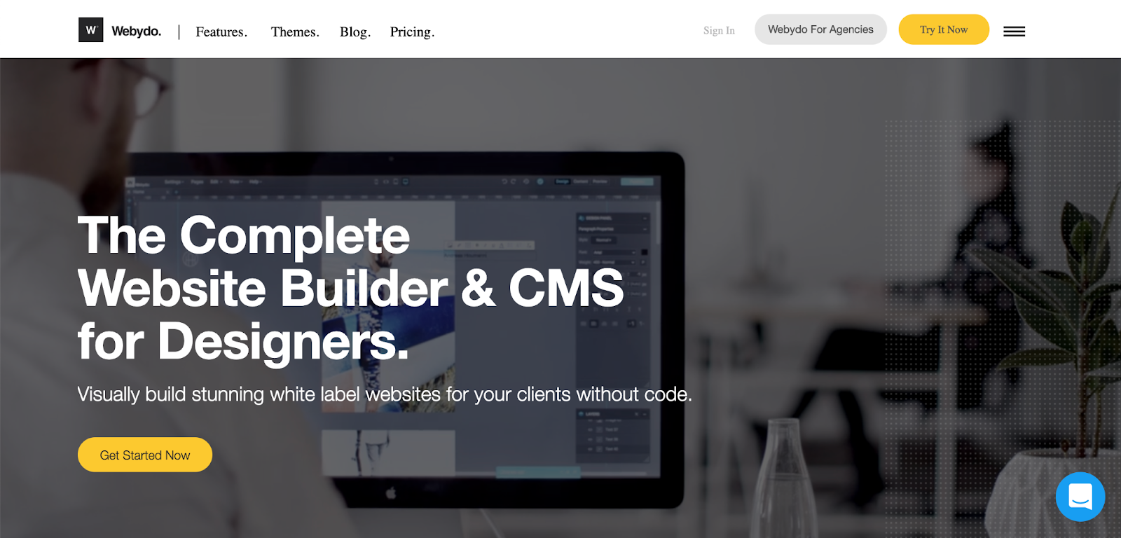 Webydo uses Helvetica bold as a modern headline – source