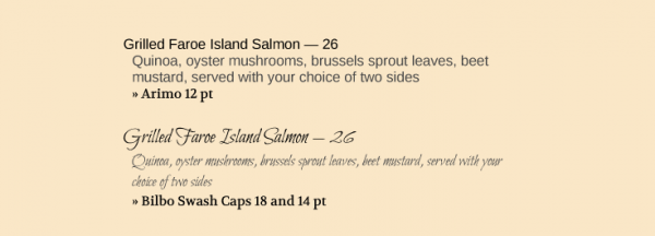 Which salmon would you rather order?