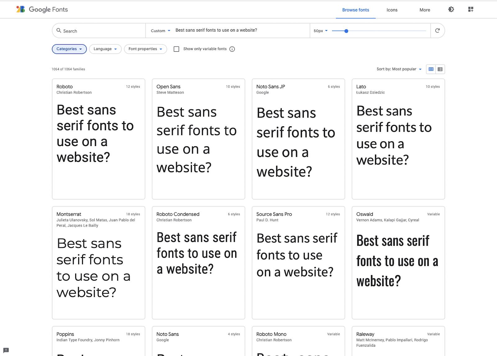 Google fonts web fonts– source