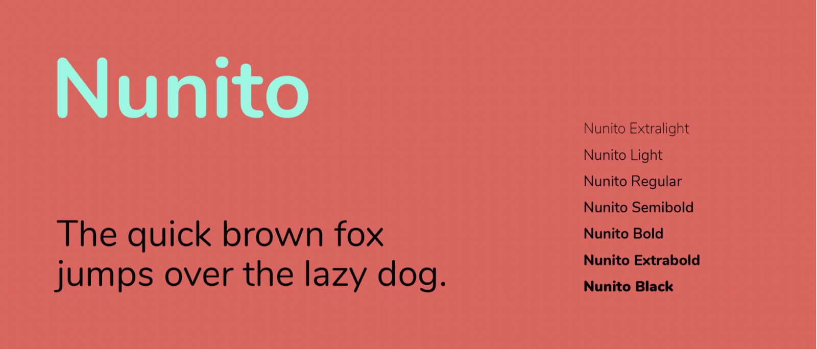 Nunito looks great at all sizes, especially small font sizes – source