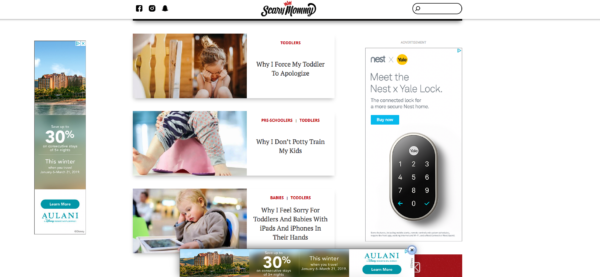 Here's a shot of three different image ads showing up on one page. Really trying to get my attention here.