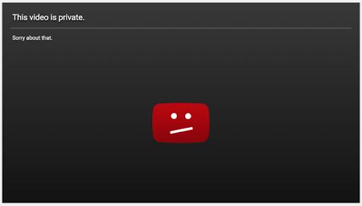 quality score youtube private video error