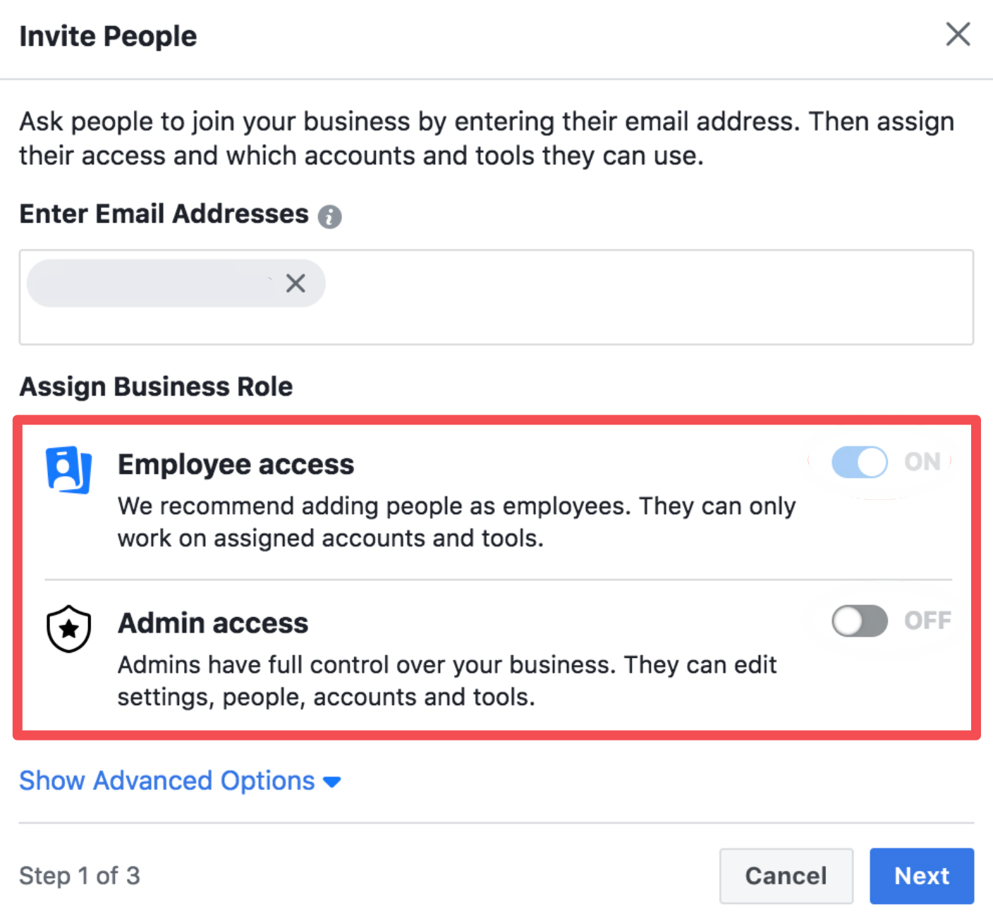 facebook business manager invite people