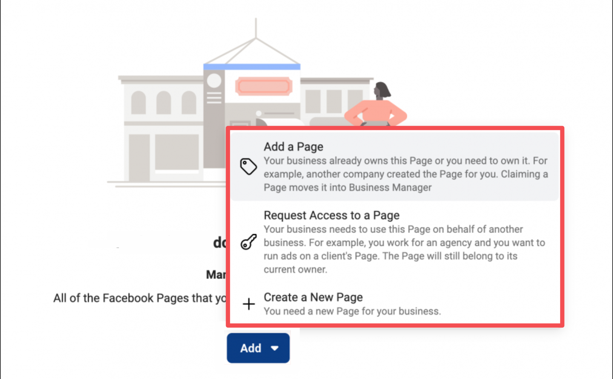 Facebook Business Manager clients business pages