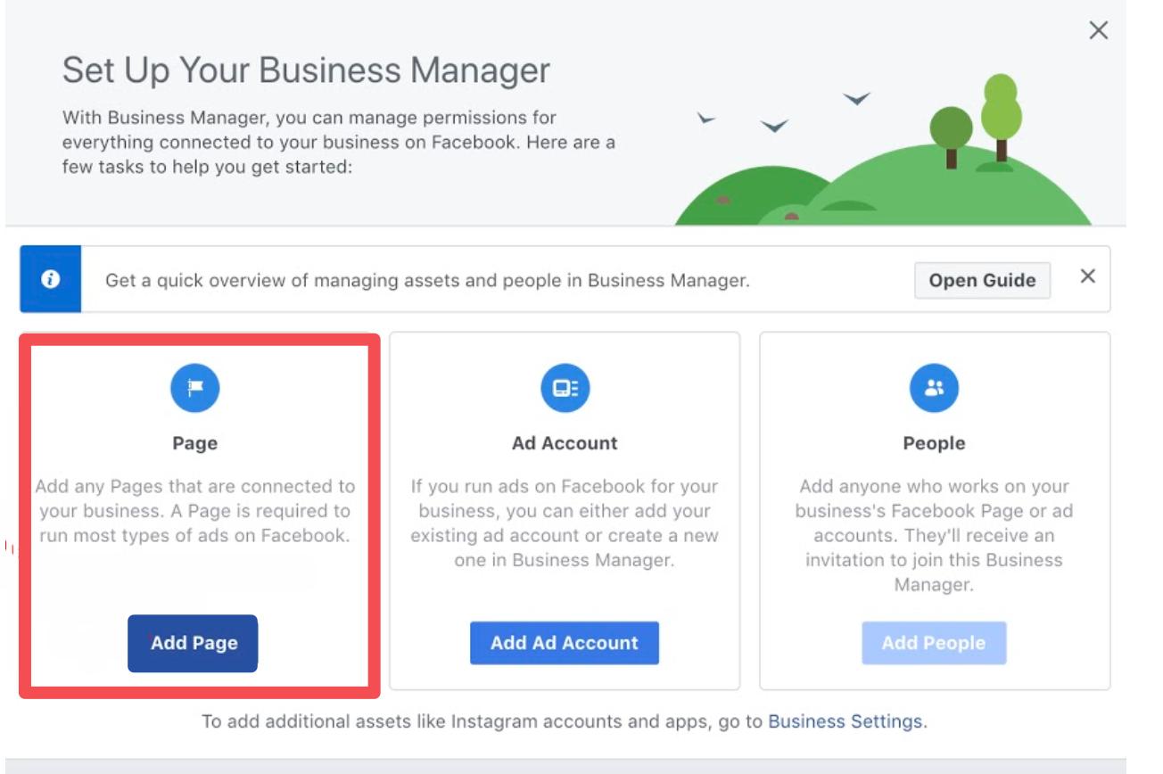 facebook business manager set up