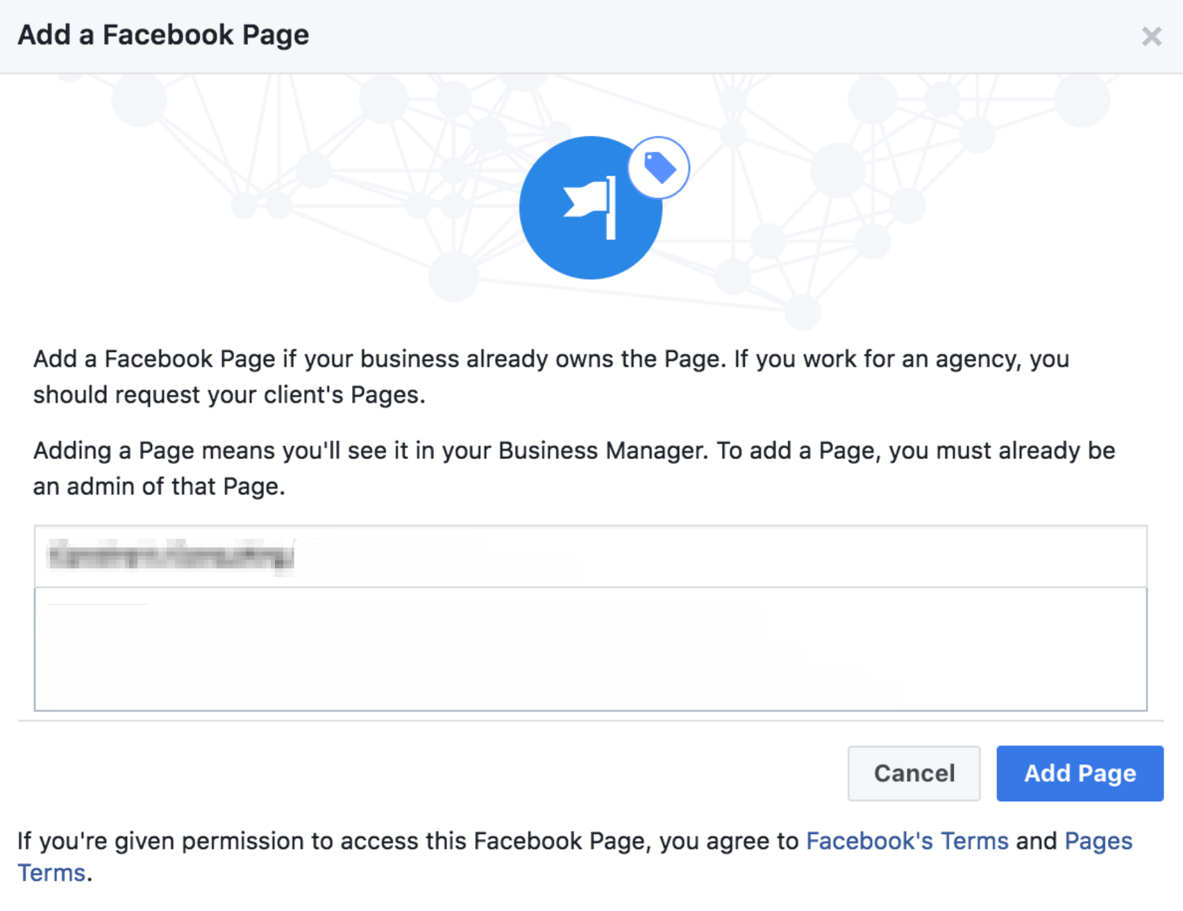 facebook business manager add facebook page