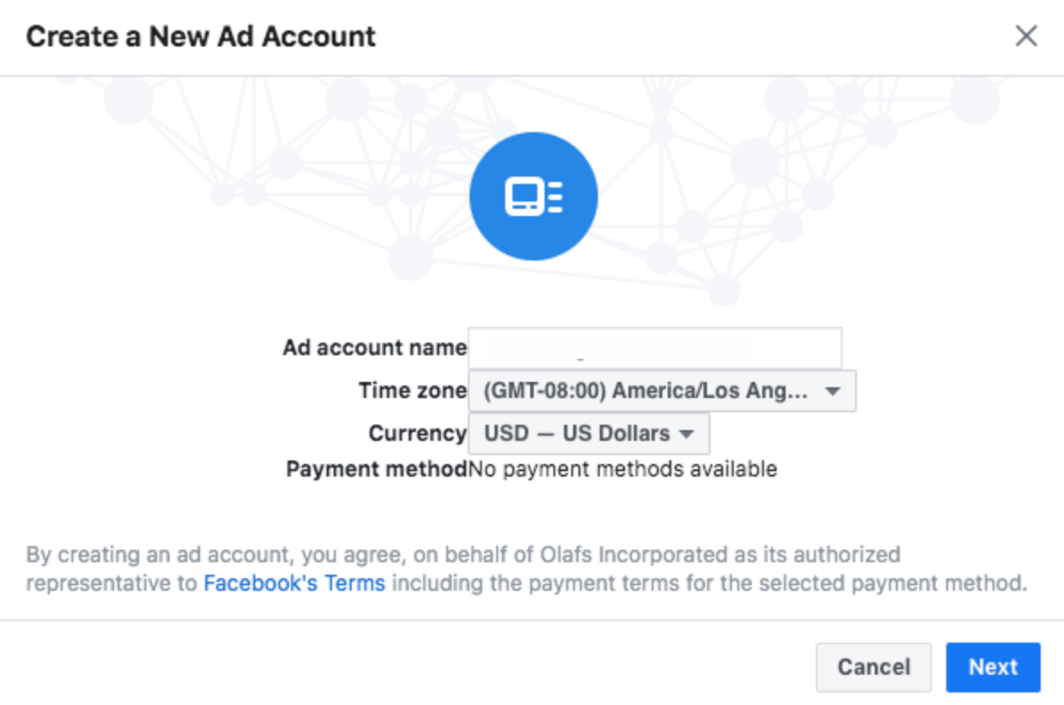 facebook business manager account details