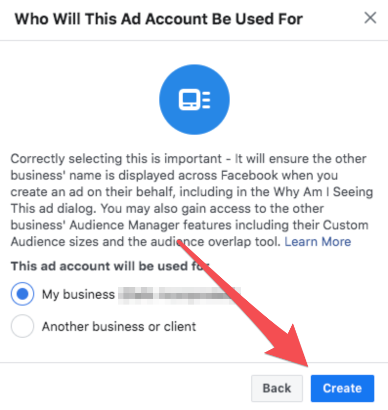 facebook business manager account be used for