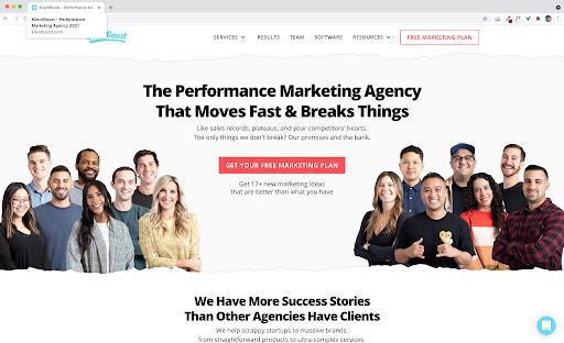 title tag klientboost landing page