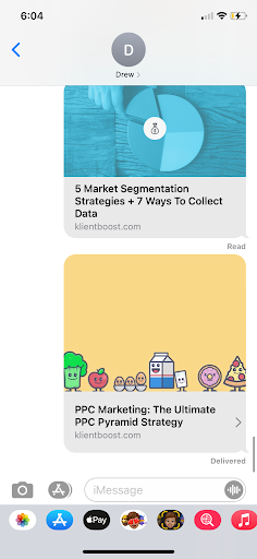 title tag imessage