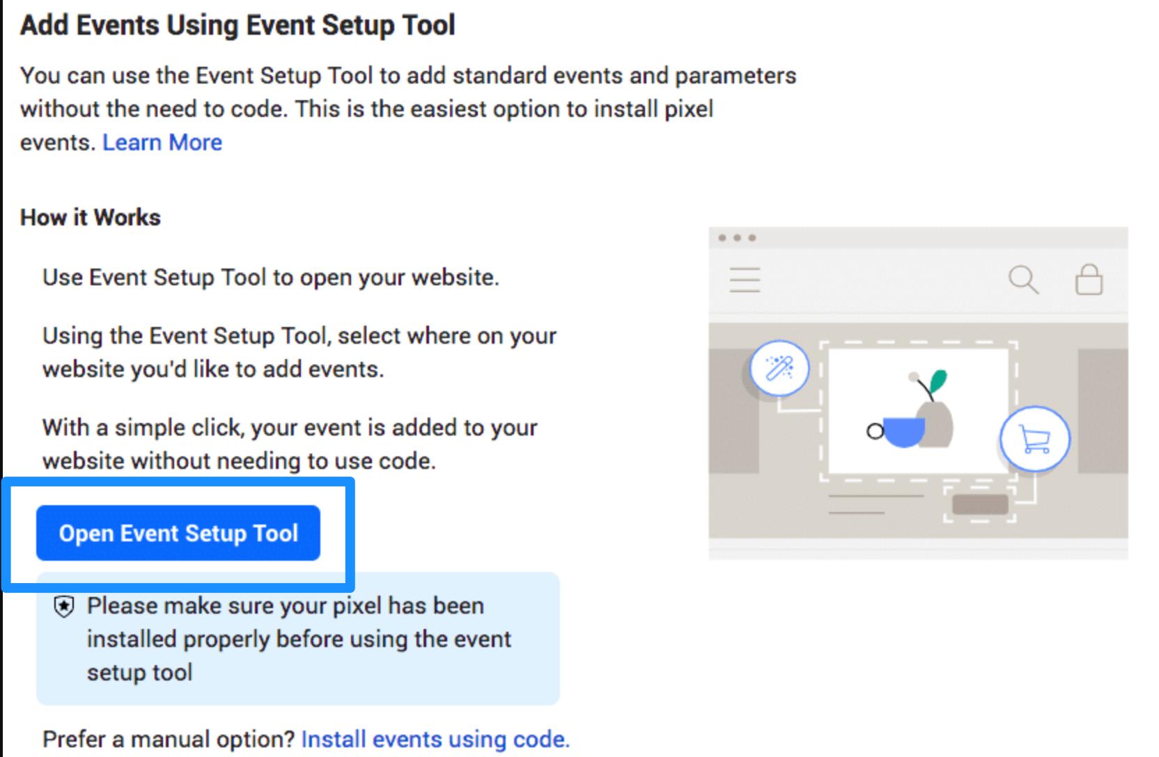 Final step for Facebook Pixel setup