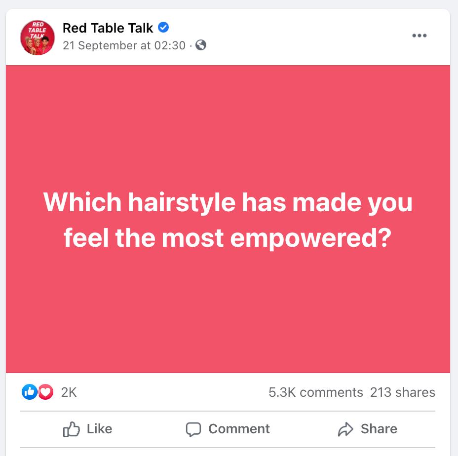 facebook marketing red table talk post