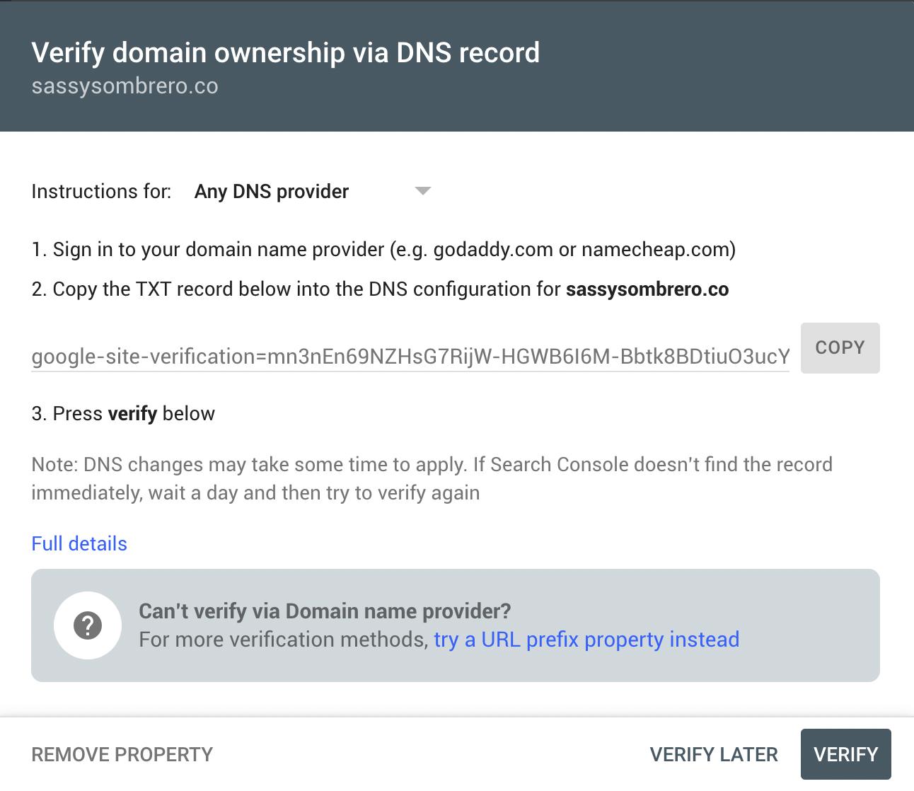 verify your domain