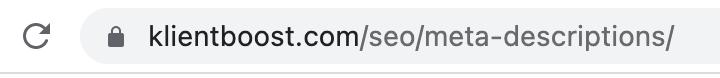 Keyword in a slug example